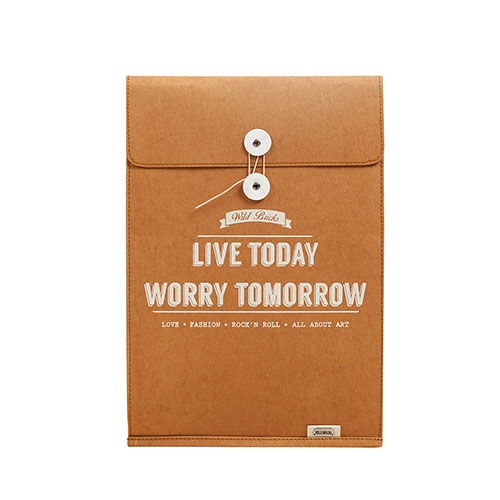 PAPER LEATHER BRIEF CASE & NOTEBOOK POUCH (orange)