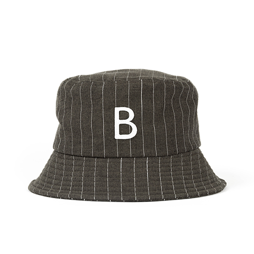 STRIPE BUCKET HAT (khaki)