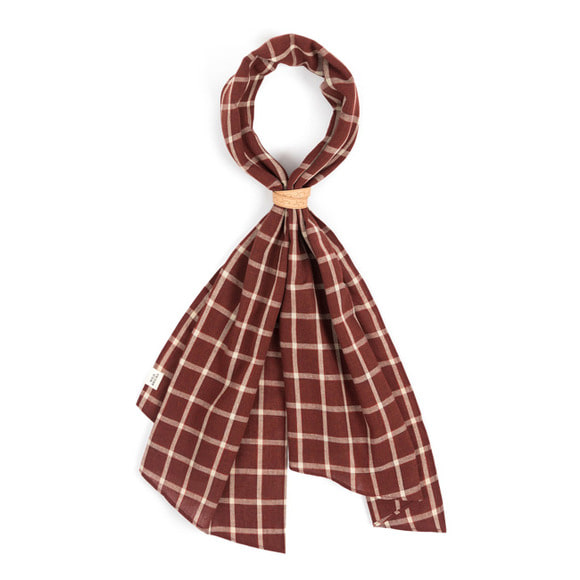 WD CHECK SCARF (red)