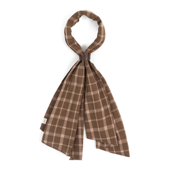 WD CHECK SCARF (brown)