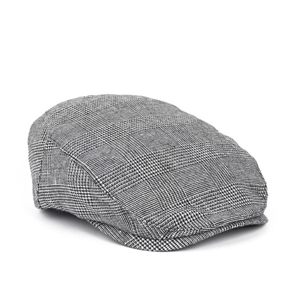 GLEN CHECK FLAT CAP (grey)