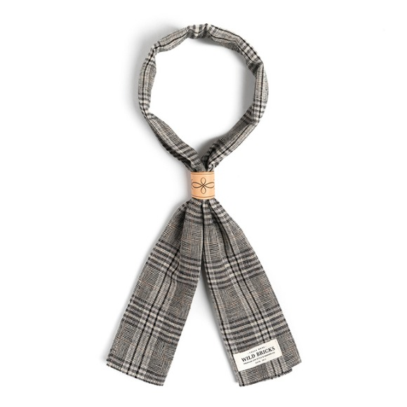 BPG CHECK SCARF (grey)