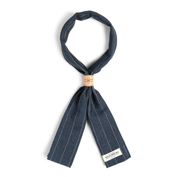LS STRIPE SCARF (blue)