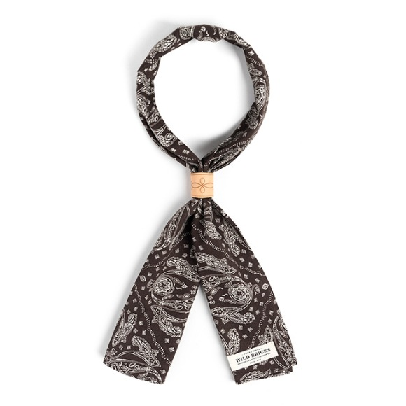 PS PATCH SCARF (brown)