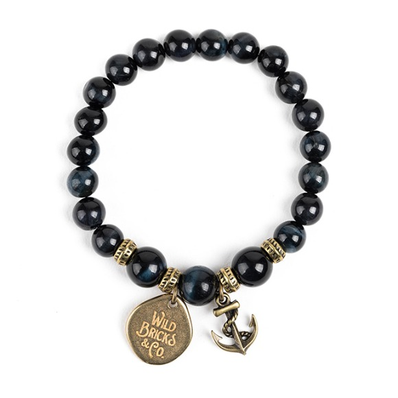 WB GEMSTONE BRACELET (navy)