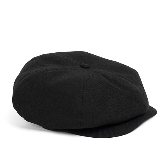 LINEN-COTTON NEWSBOY CAP (black)