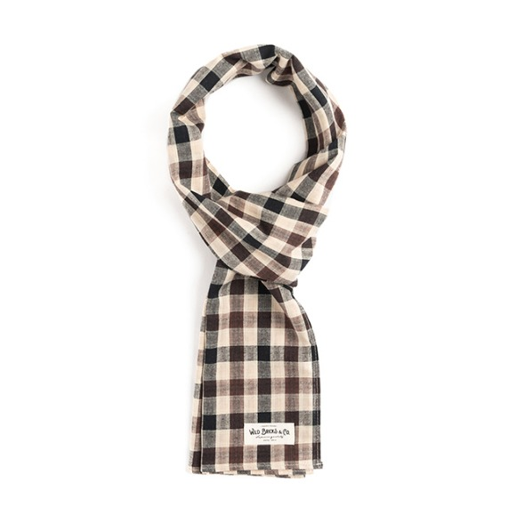 BB GINGHAM CHECK STOLE (beige)