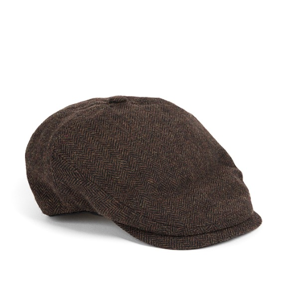 BS HERRINGBONE HUNTING CAP (brown)