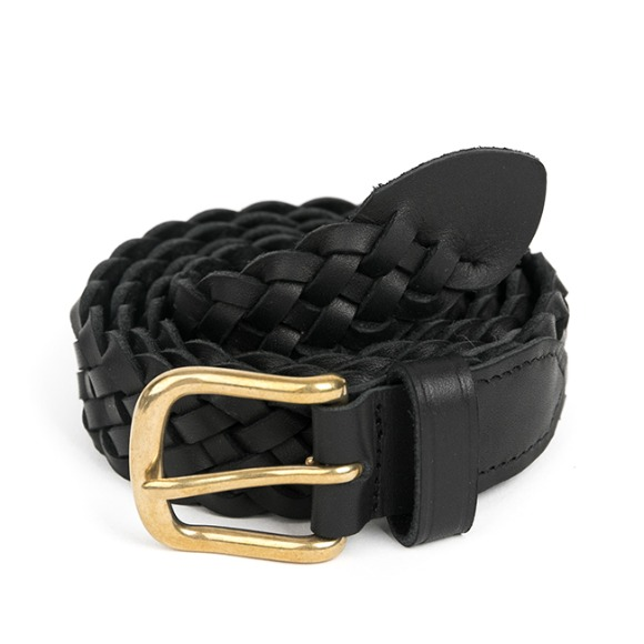 BS WOVEN LEATHER BELT (black)