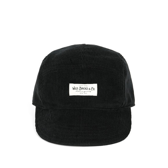 PL CORDUROY CAMP CAP (black)