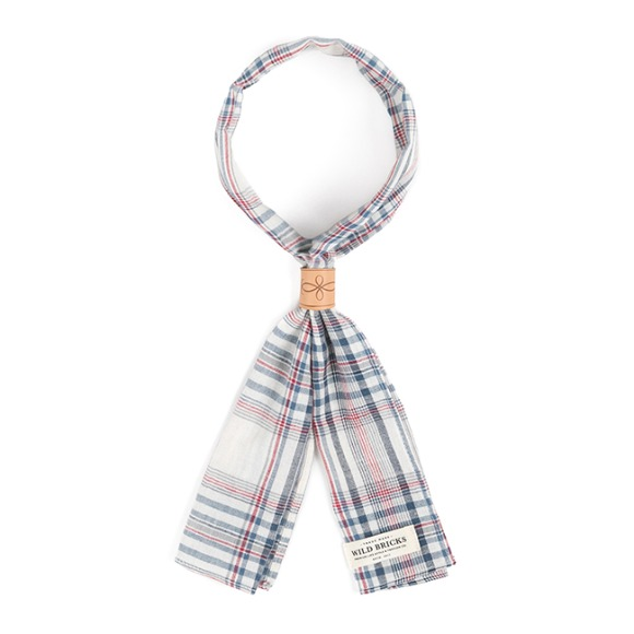 MD CHECK SCARF (ivory)