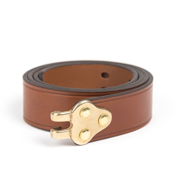 RIFLE SLING LEATHER BELT (brown)