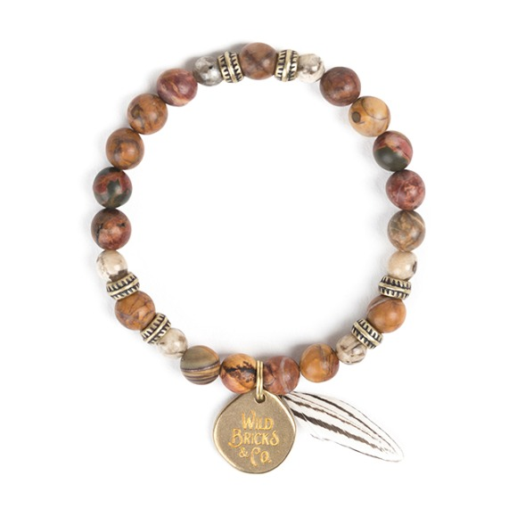 FEATHER BRACELET (beige)
