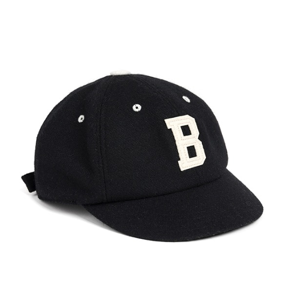 MELTON WOOL BASEBALL CAP (black)