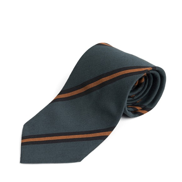 IV COTTON REGIMENTAL TIE (dark green)