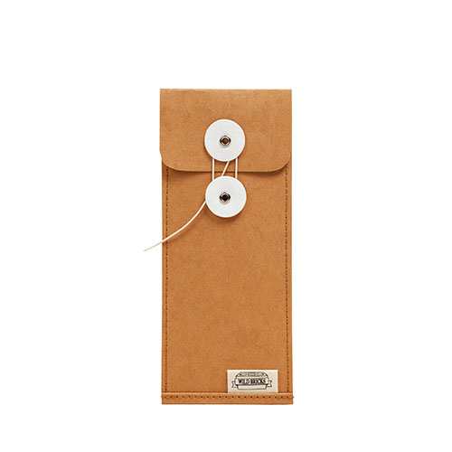 PAPER LEATHER PENCIL CASE (orange)