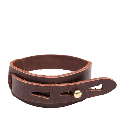 LEATHER BRACELET (dark brown)