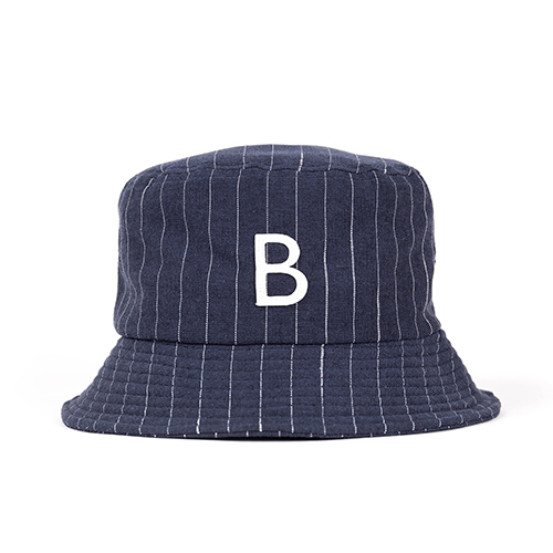 STRIPE BUCKET HAT (navy)