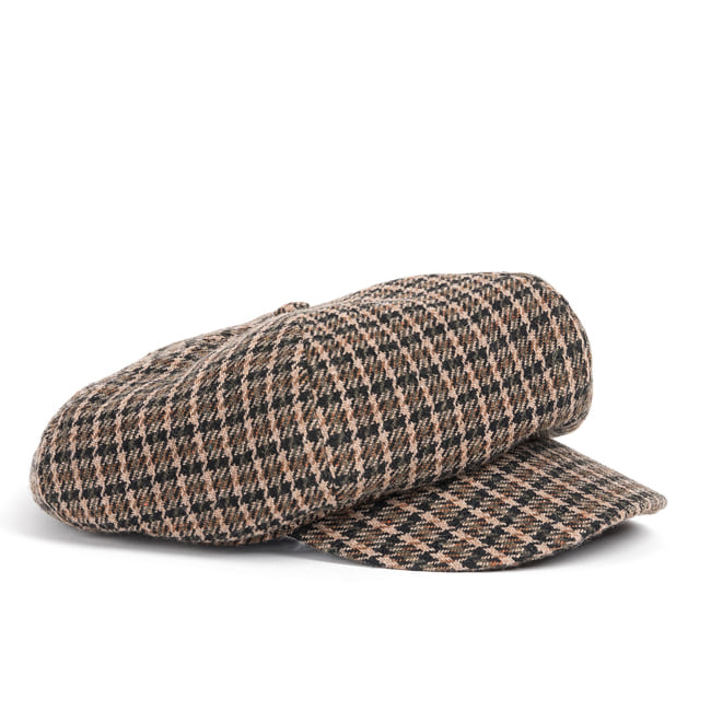 WOOL NEWS BOY CAP (brown)