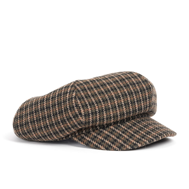 WOOL NEWS BOY CAP (khaki)