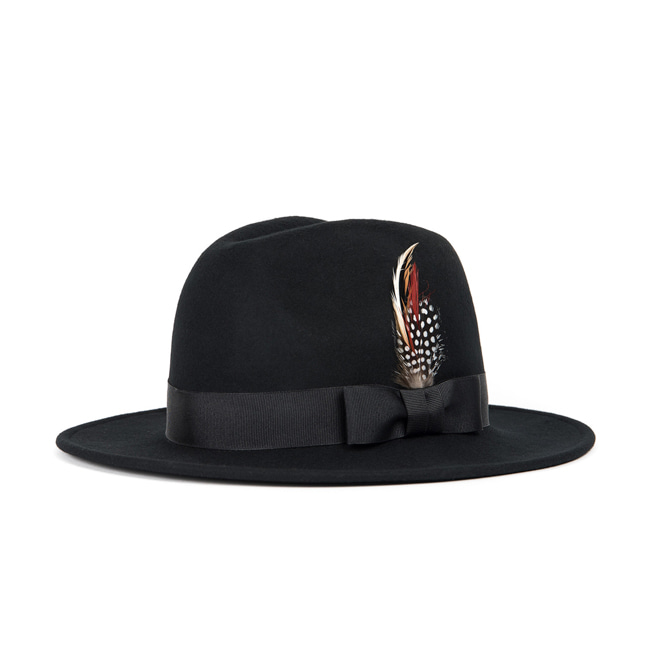 WOOL FEDORA (black)