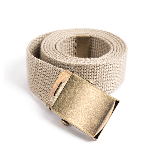 MILITARY WEBBING BELT (beige)