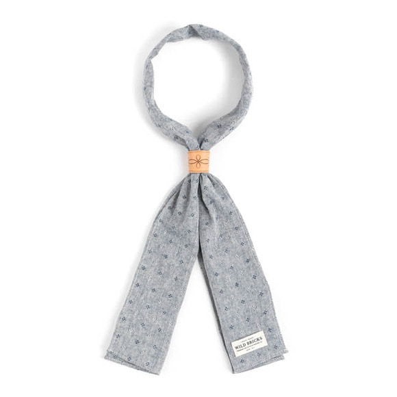 CHAMBRAY DOT SCARF (blue)