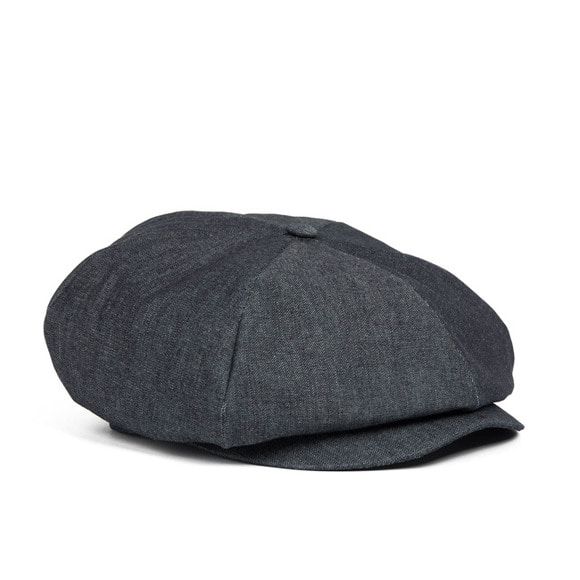 DENIM NEWSBOY CAP (black)