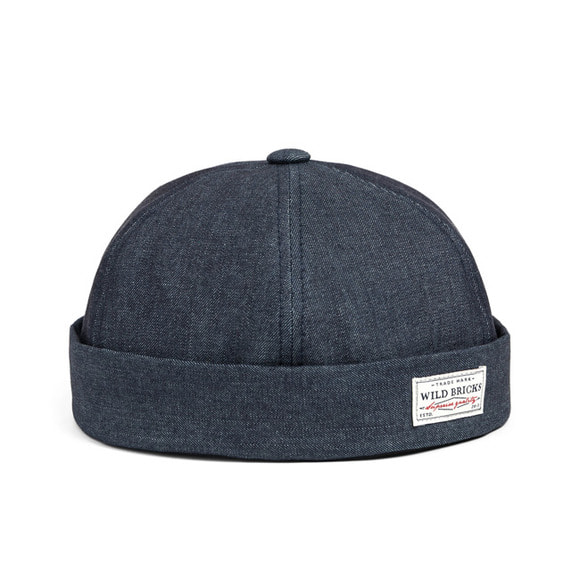 DENIM BRIMLESS CAP (blue)