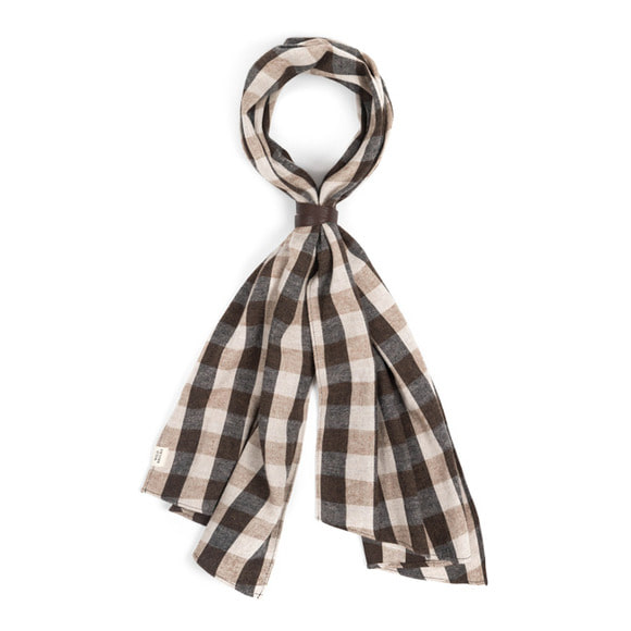 BLOCK CHECK SCARF (beige)