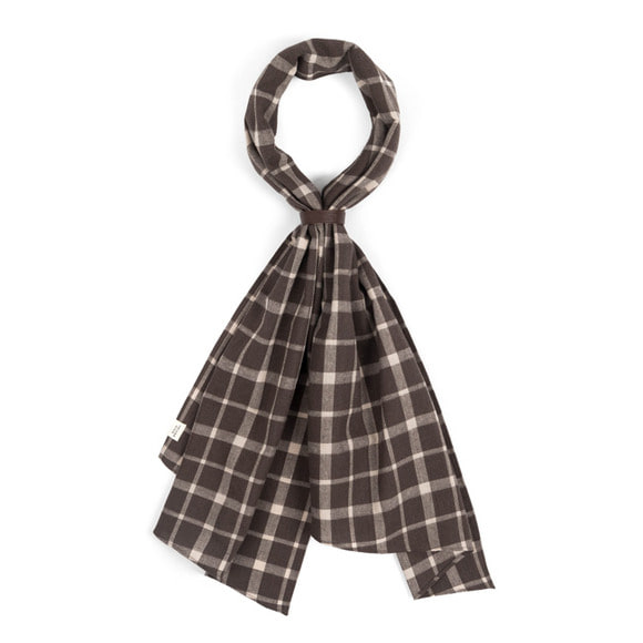 WD CHECK SCARF (dark brown)