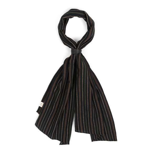 VH STRIPE SCARF (black)