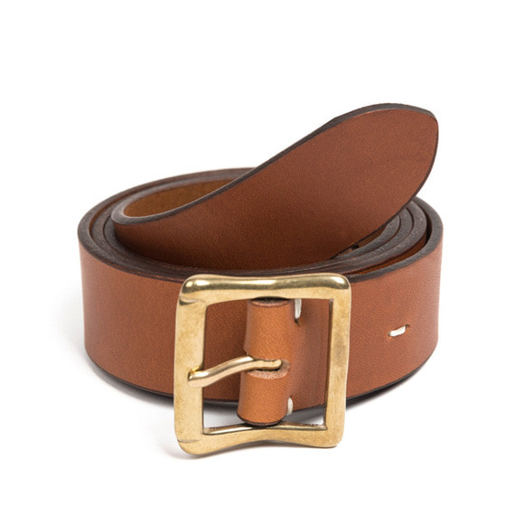 CB BRASS LEATHER BELT (brown)