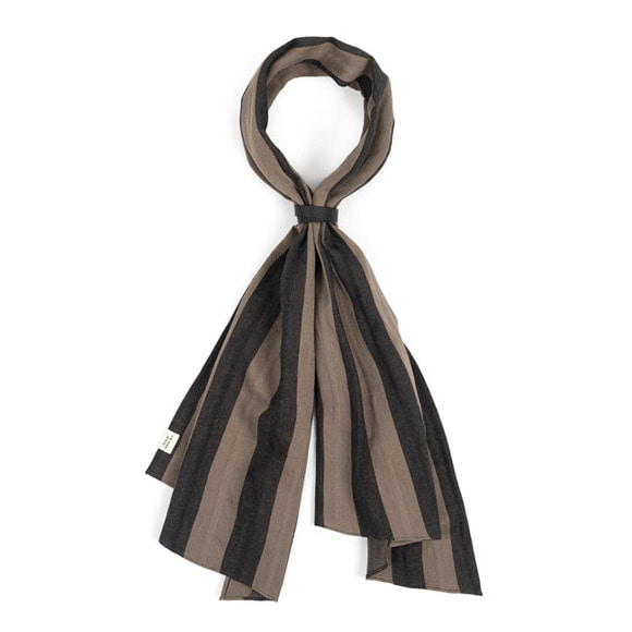 HBT STRIPE SCARF (grey)