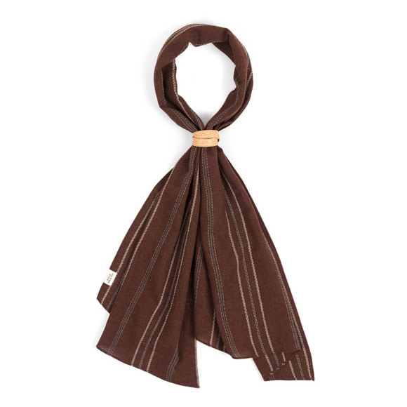 EN STRIPE SCARF (brown)