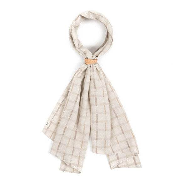 WD PIN SCARF (ivory)