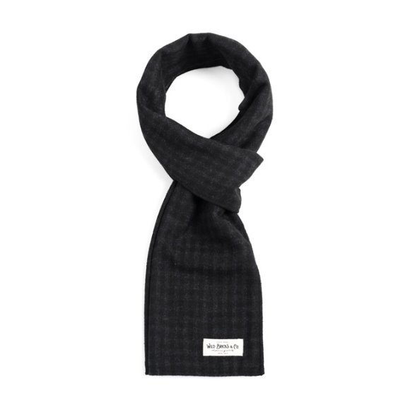 SHEPHERD CHECK STOLE (black)