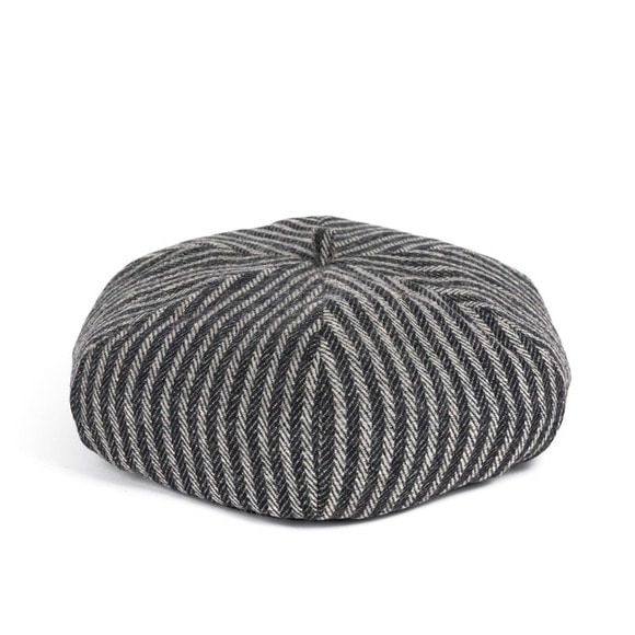 HBT STRIPE BERET (grey)