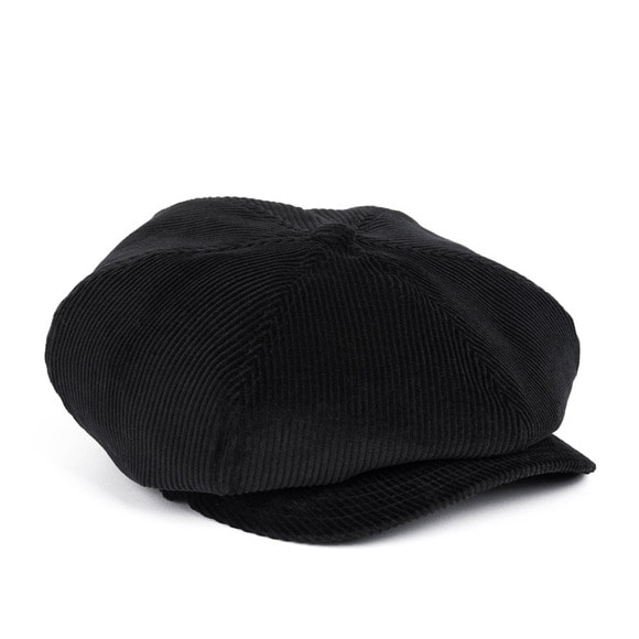 BS CORDUROY NEWSBOY CAP (black)