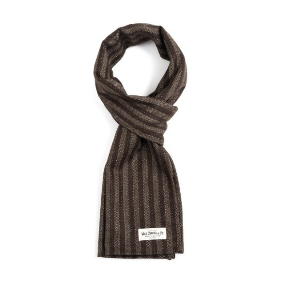 HOMESPUN STRIPE STOLE (brown)