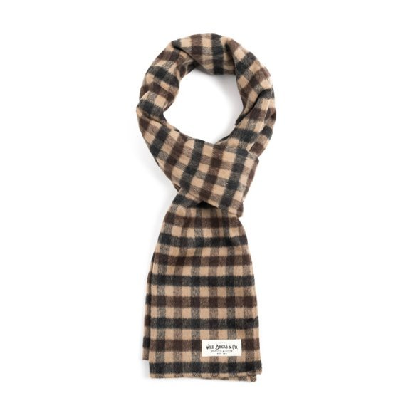 GUN CLUB CHECK STOLE (brown)