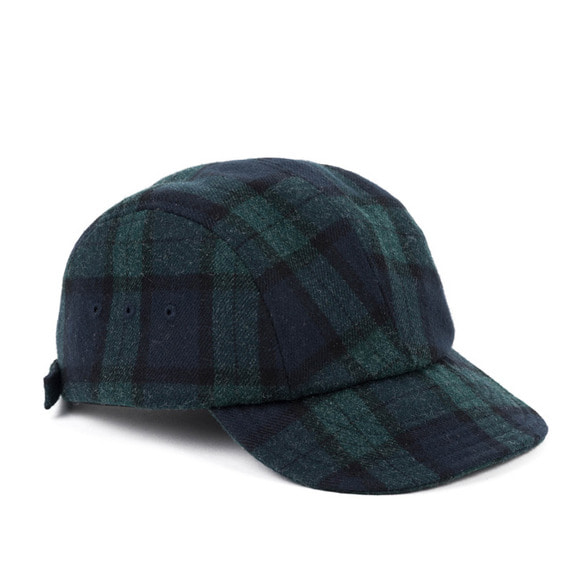 WOOL BLACK WATCH CAMP CAP (green)