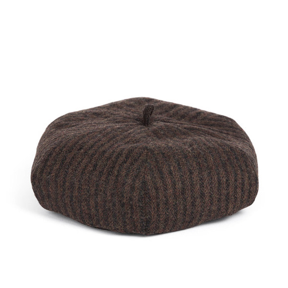 HBT STRIPE BERET (brown)