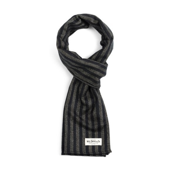 HOMESPUN STRIPE STOLE  (black)
