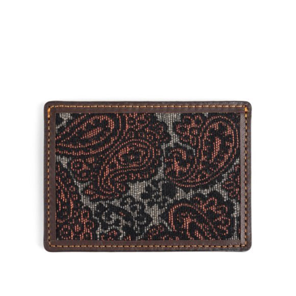 PAISLEY CARD CASE (brown)