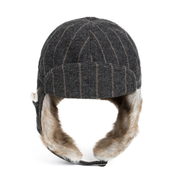 HERRINGBONE TRAPPER HAT(grey)