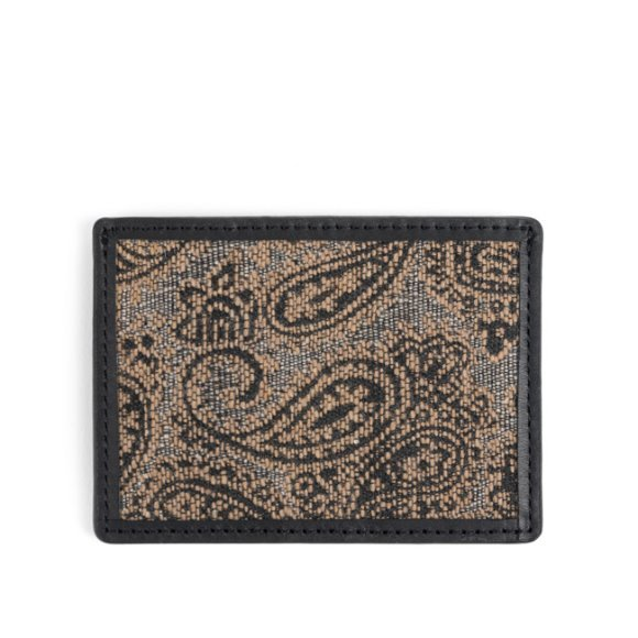 PAISLEY CARD CASE (black)