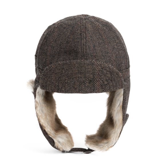 HERRINGBONE TRAPPER HAT(brown)