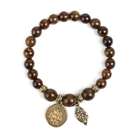 WB GEMSTONE BRACELET (brown)