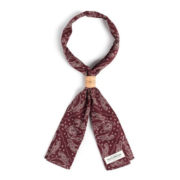 PS PATCH SCARF (burgundy)